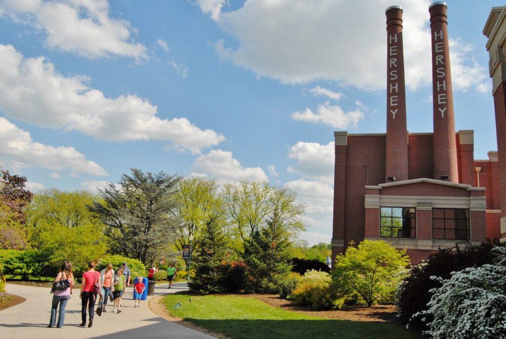 The Hershey Chocolate Factory in Pennsylvania.