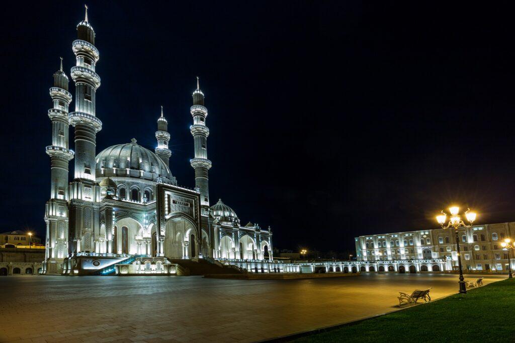 The Heydar Mosque in Baku.