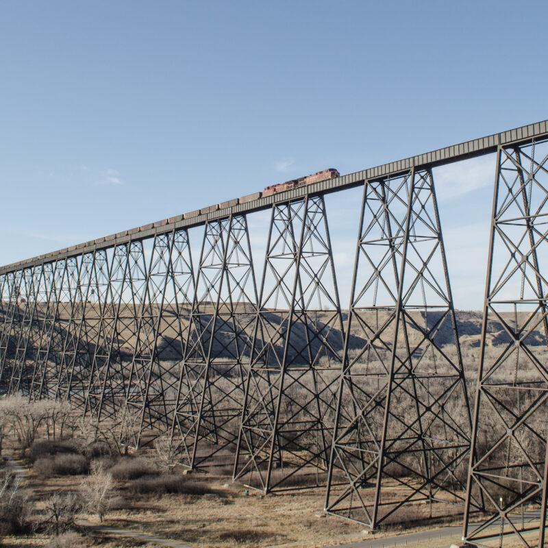 The High Level Bridge in Lethbridge, Canada.