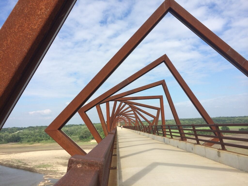 The High Trestle Trail Bridge in Iowa.