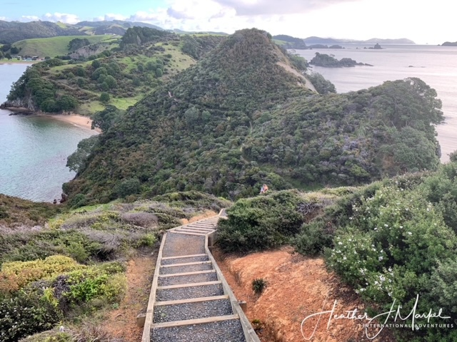 The hike at Mahinepua Bay in New Zealand.