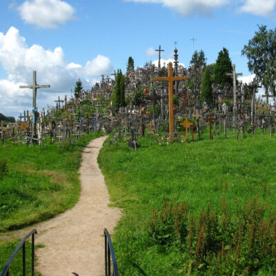 The Hill of Crosses in Lithuania.