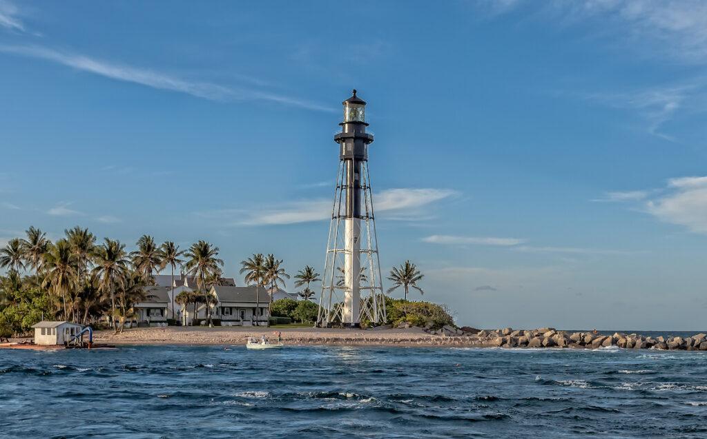 The Hillsboro Lighthouse in Pompano Beach, Florida.