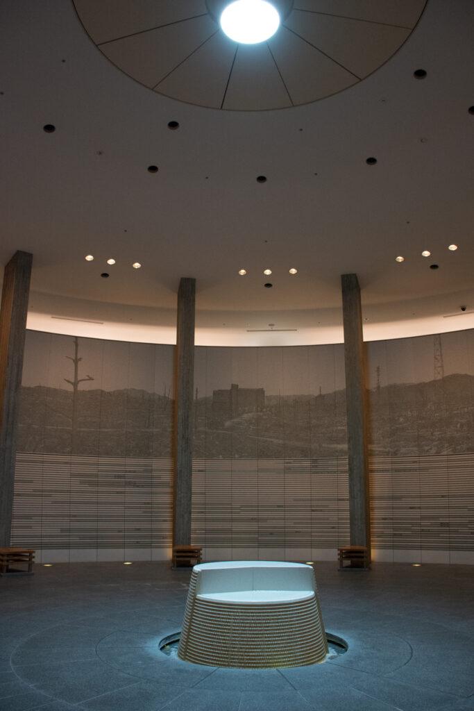 The Hiroshima National Peace Memorial Hall.