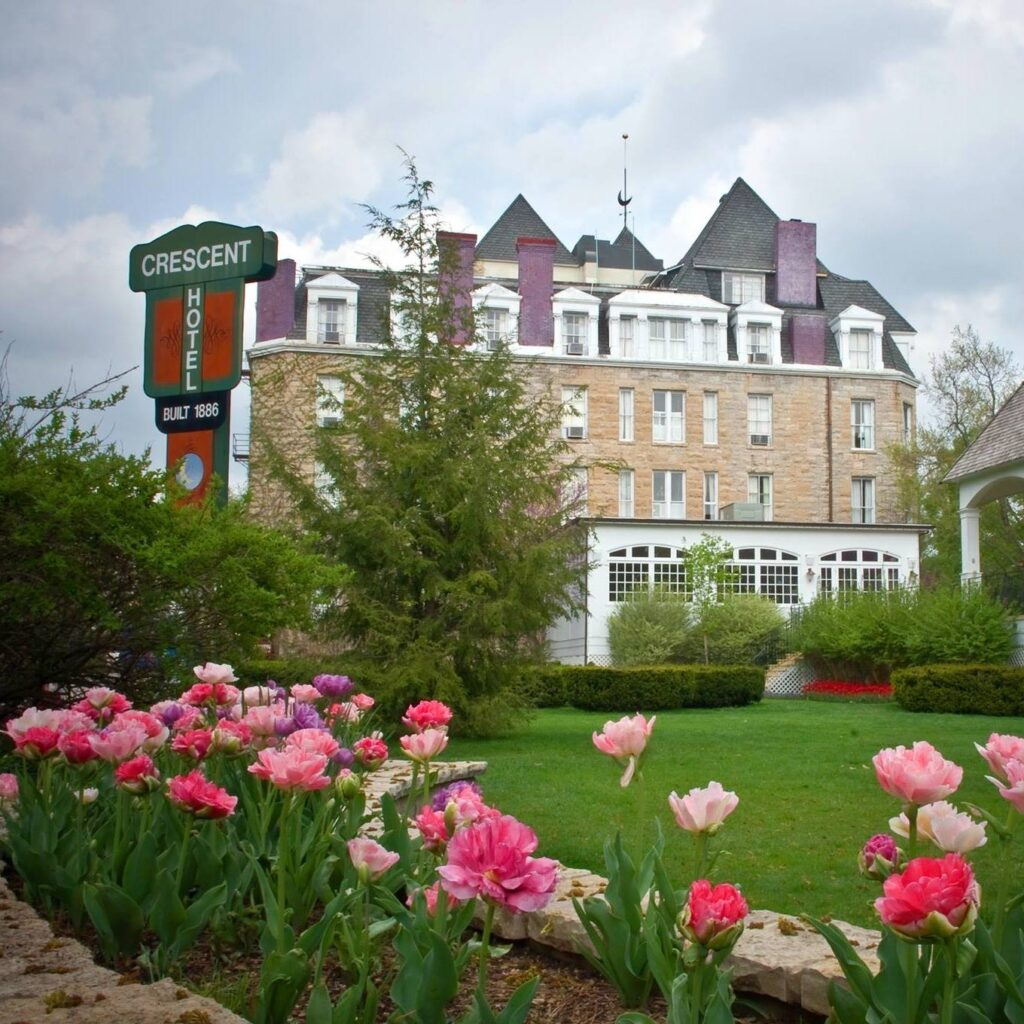 The historic 1886 Crescent Hotel in Eureka Springs.