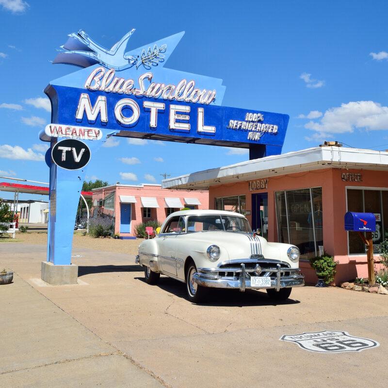 The historic Blue Swallow Motel in Tucumcari, New Mexico.