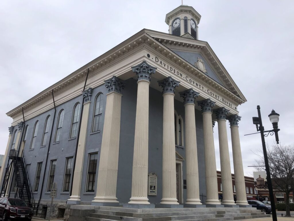 The historic county courthouse.