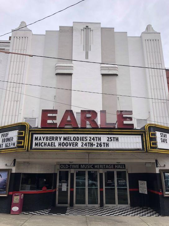 The Historic Earle Theatre in Mt. Airy, North Carolina.