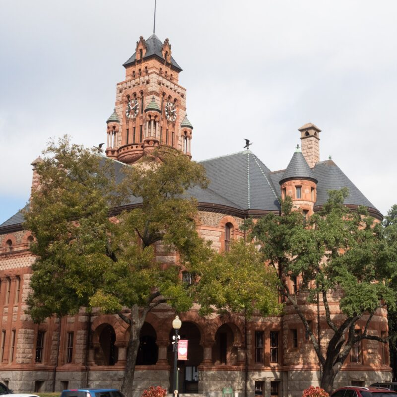 The historic Ellis County Courthouse in Waxahachie, Texas.