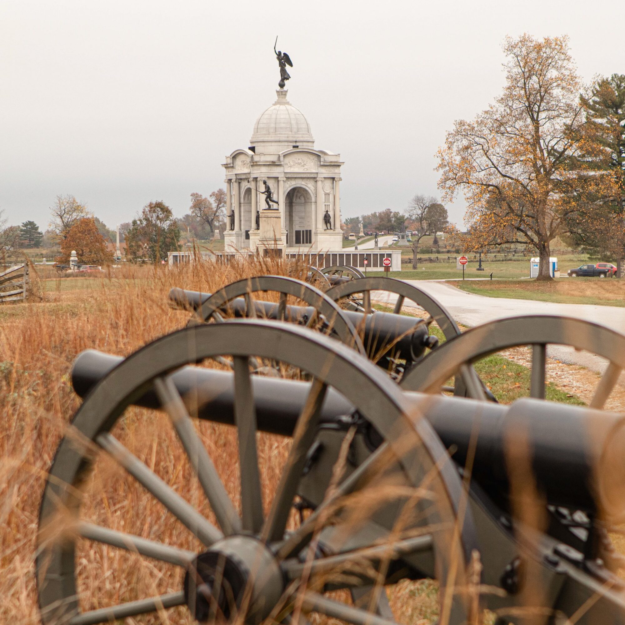 The historic Gettysburg Battlefield in Pennsylvania.