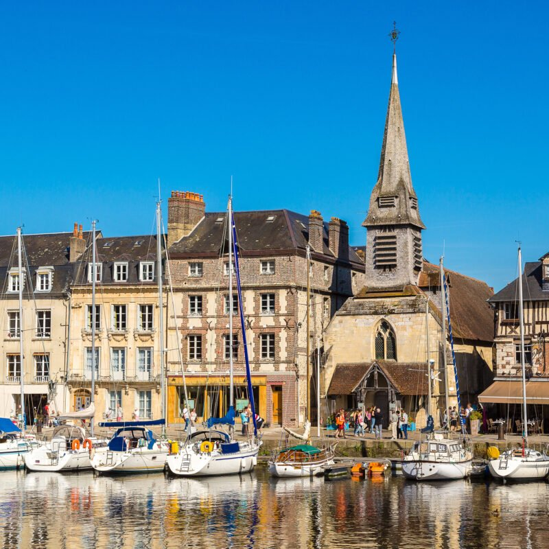 The historic harbor of Honfleur in France.