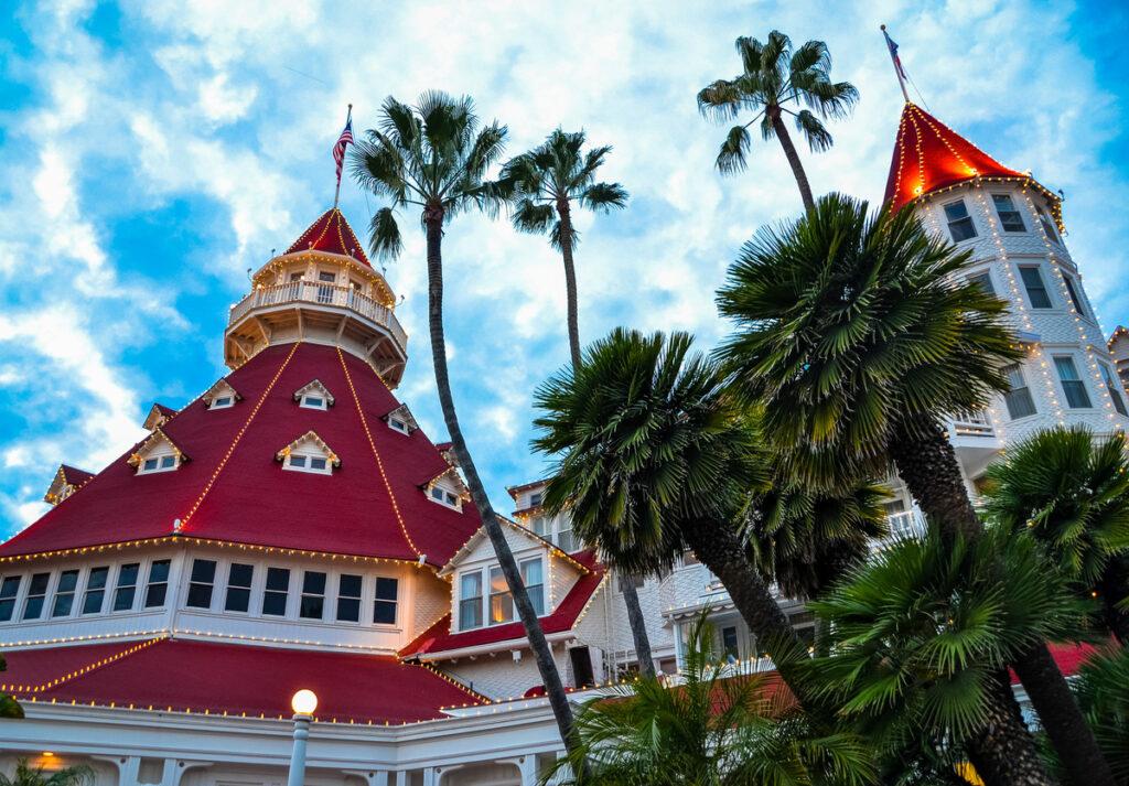 The historic Hotel del Coronado in California.