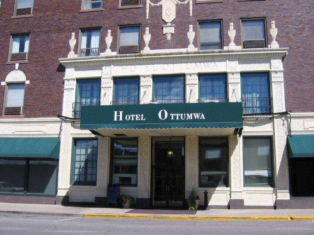 The historic Hotel Ottumwa.