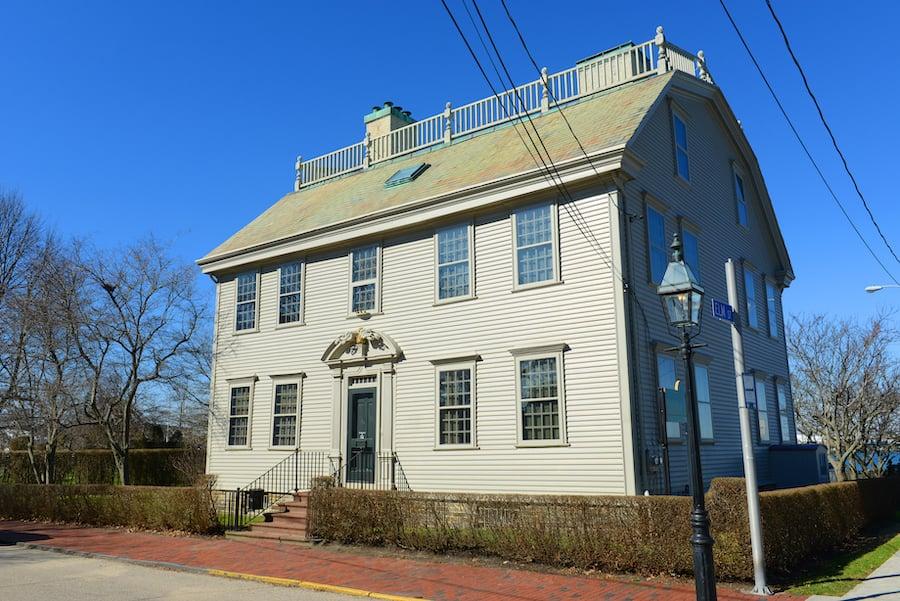 The historic Hunter House in Newport, Rhode Island.