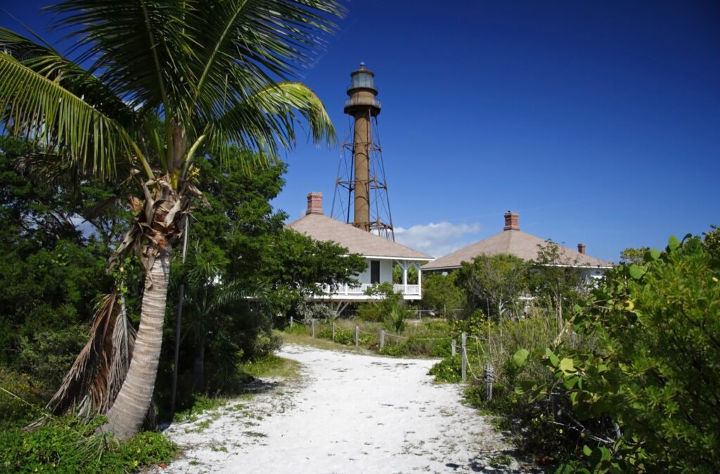 The historic lighthouse on Sanibel Island.