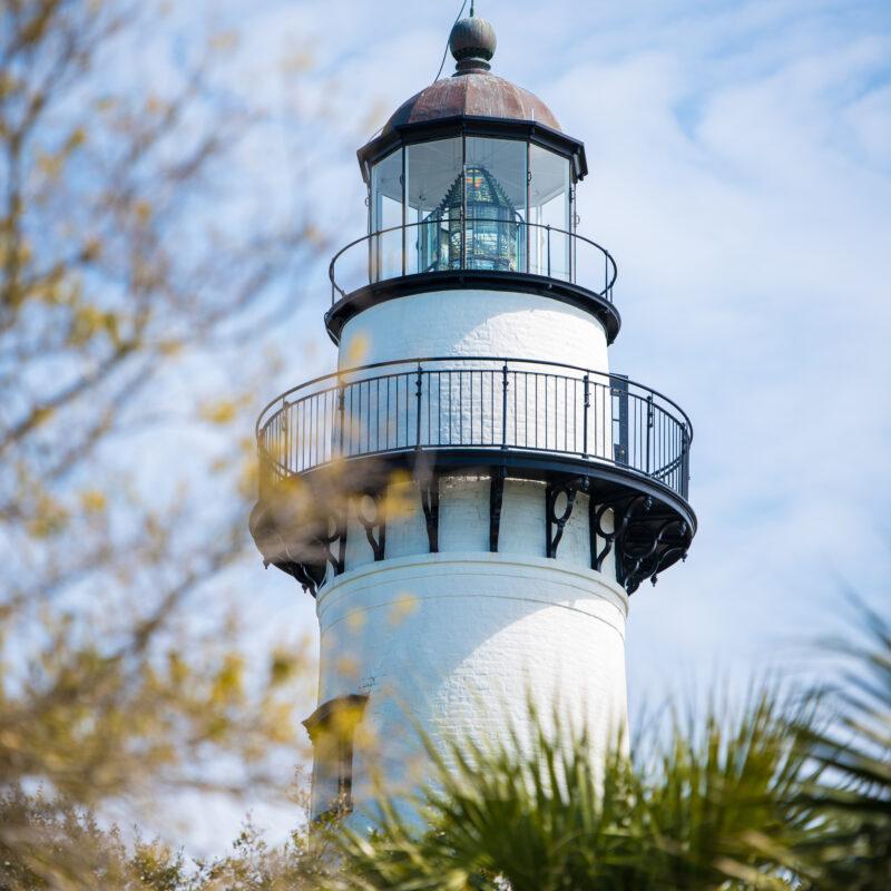 The historic lighthouse on St. Simons Island.