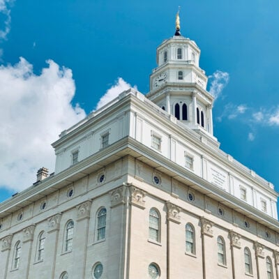 The historic Nauvoo Temple in Illinois.