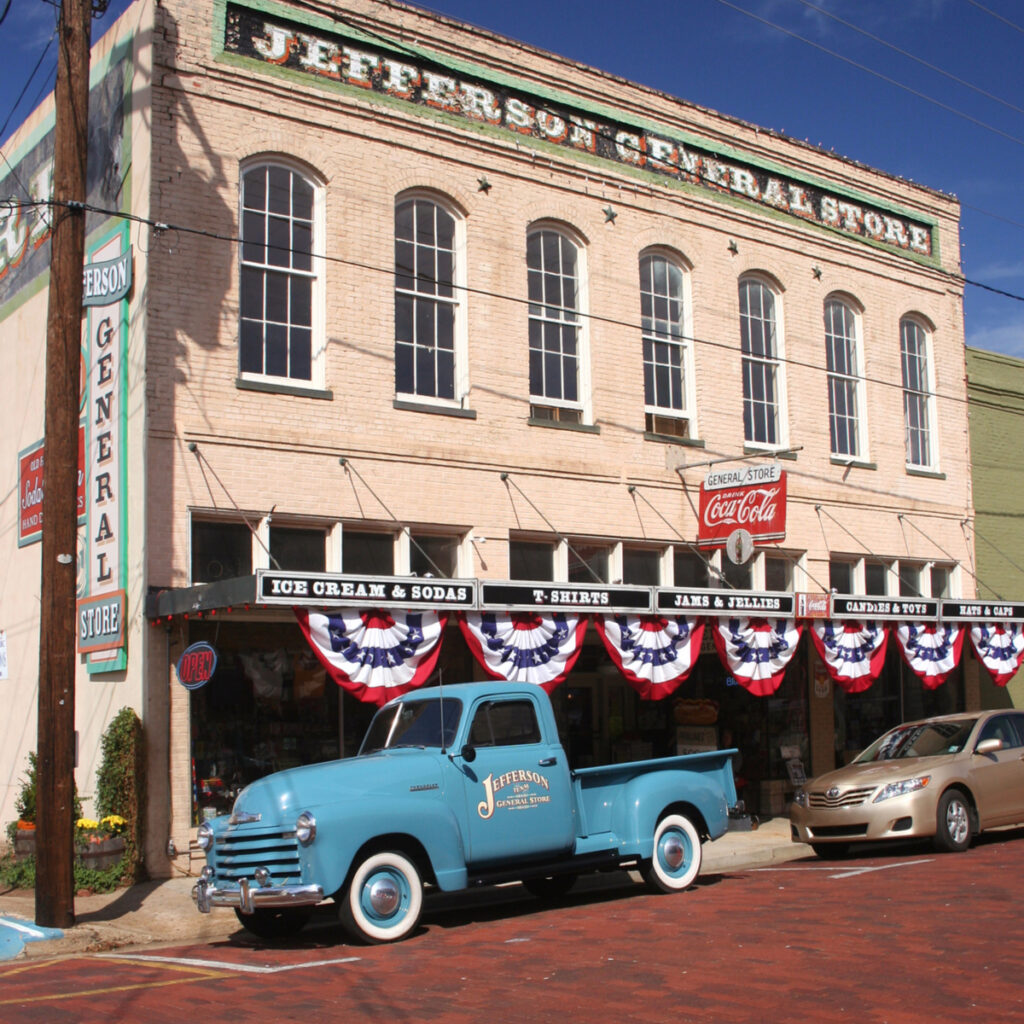 The historic small town of Jefferson, Texas.