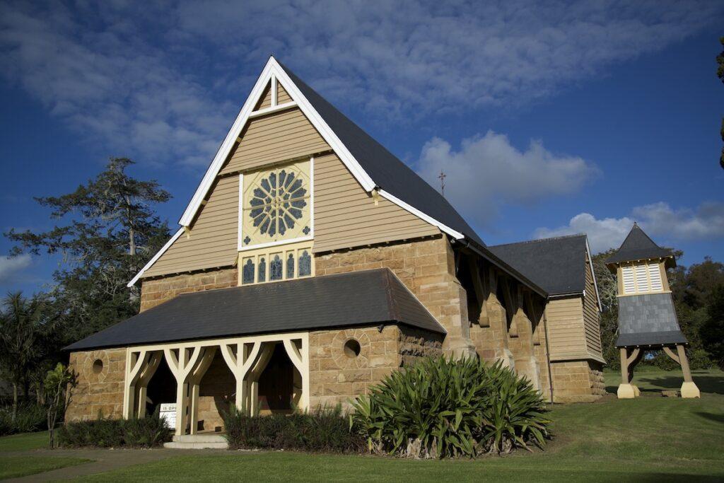 The historic St. Barnabas Chapel on Norfolk Island.