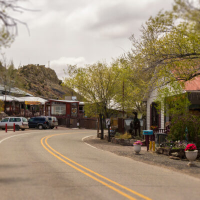 The historic town of Madrid, New Mexico.