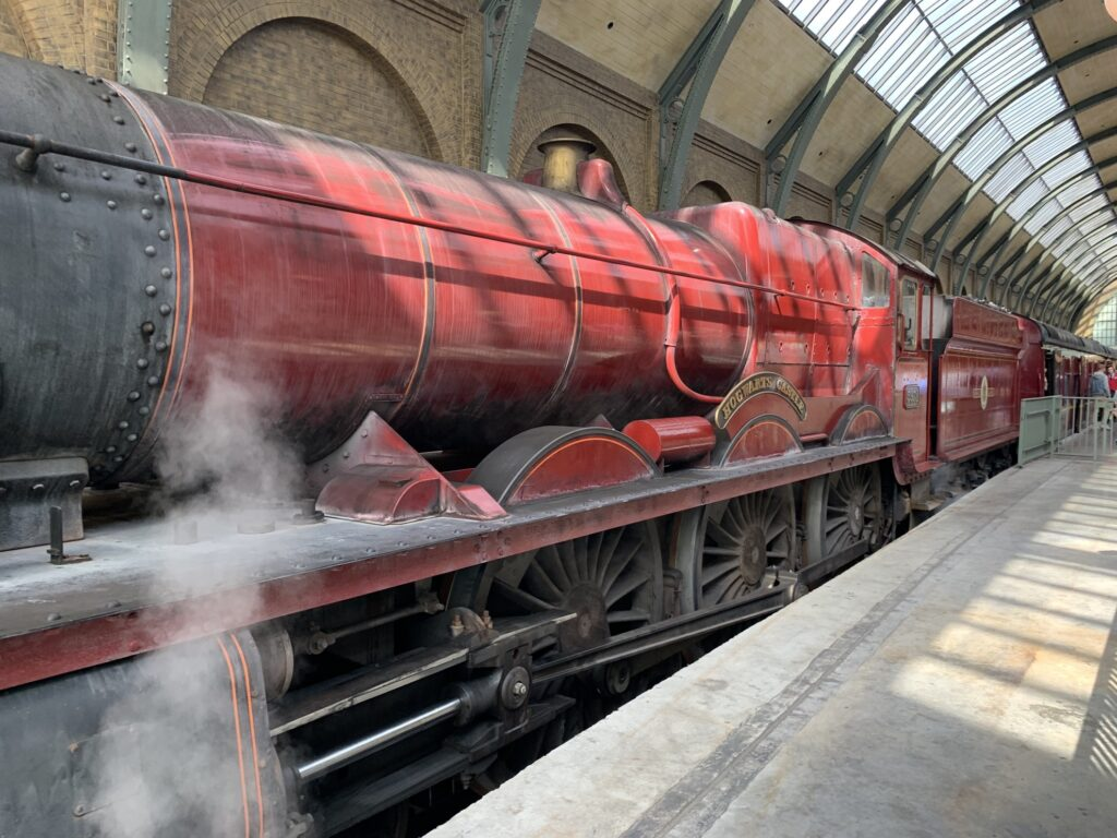The Hogwarts Express at Universal Studios.