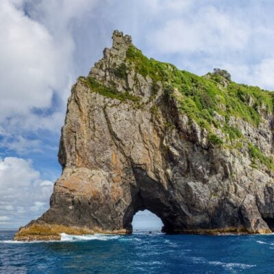 The Hole In The Rock in New Zealand.