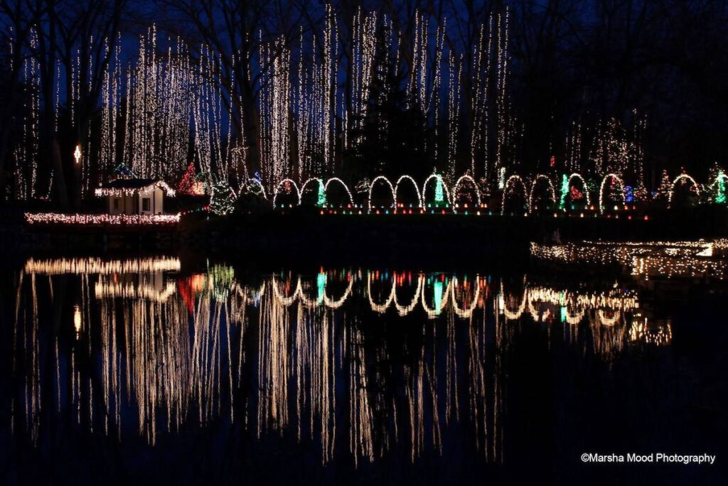 The Holiday Light Show in Janesville, Wisconsin.
