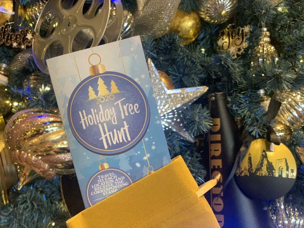 The Holiday Tree Hunt at Universal Studios.