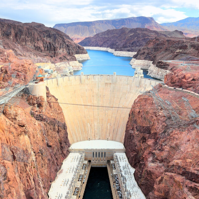 The Hoover Dam in Boulder City, Nevada.