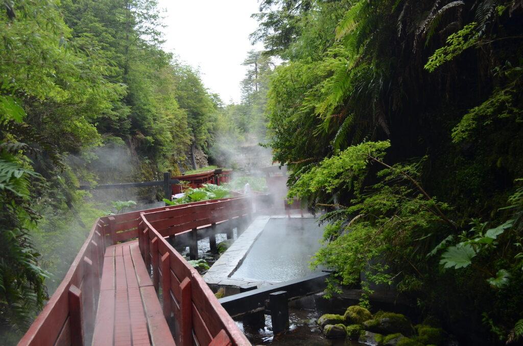 The hot springs at Termas Geometricas in Chile.