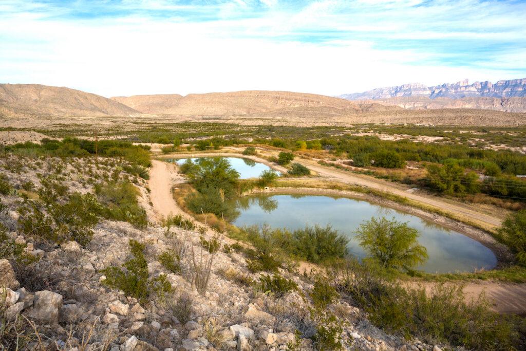 The Hot Springs Trail in Rio Grande Village.