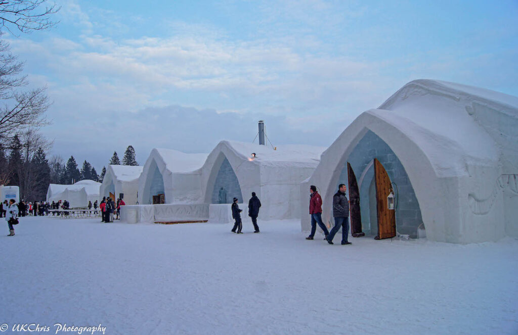 The Hotel de Glace, an ice hotel near Quebec City.
