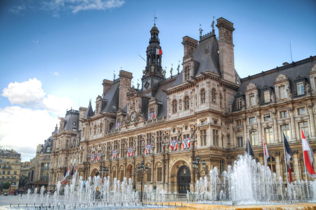The Hotel de Ville in Paris, France.