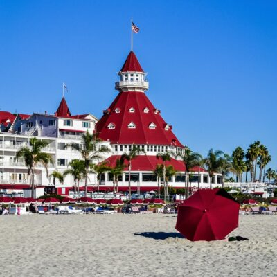 The Hotel del Coronado in California.