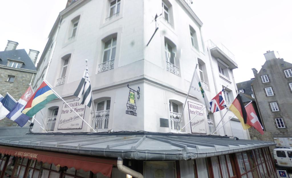 The Hotel Porte St Pierre in Saint-Malo.