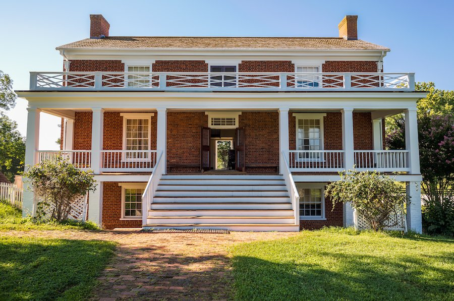 The house where General Lee surrendered to General Grant.