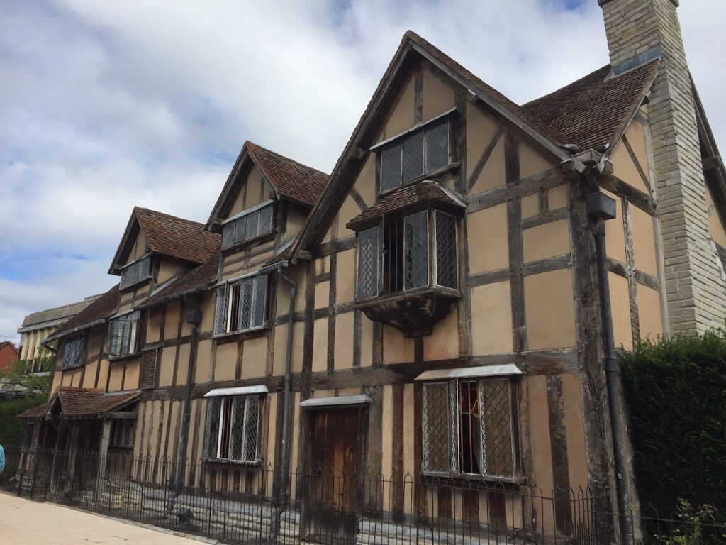 The house where Shakespeare was born in Stratford-Upon-Avon.