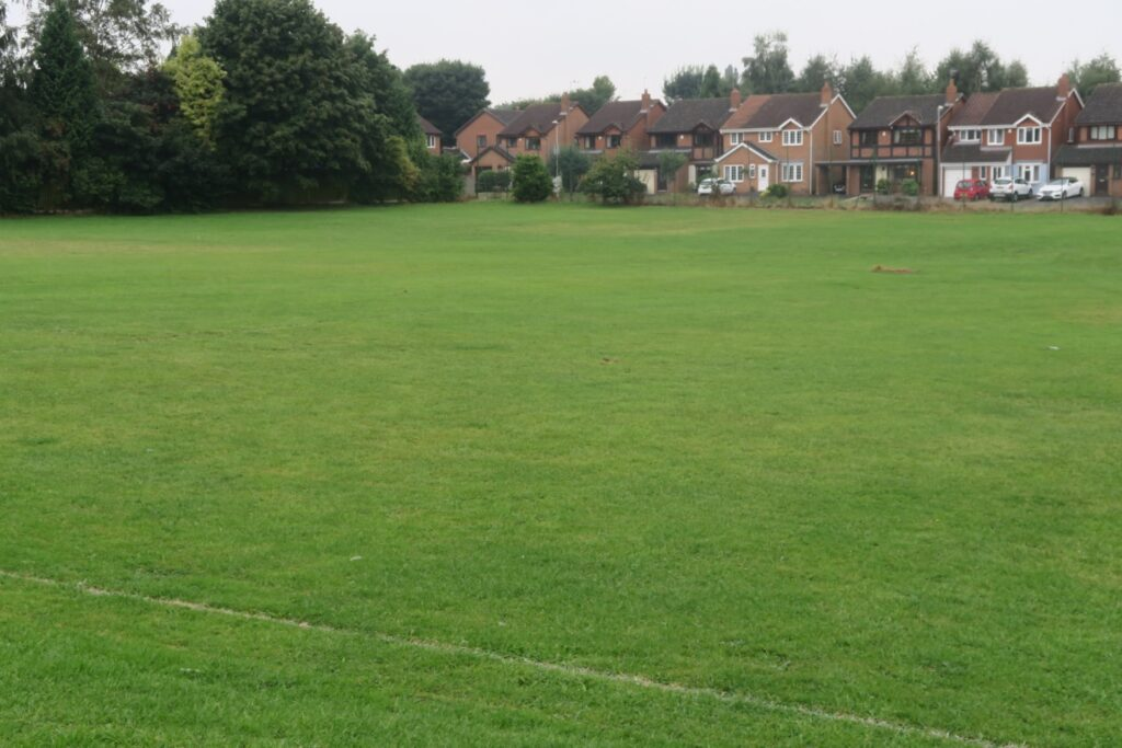 The housing estate built around an old playing field.