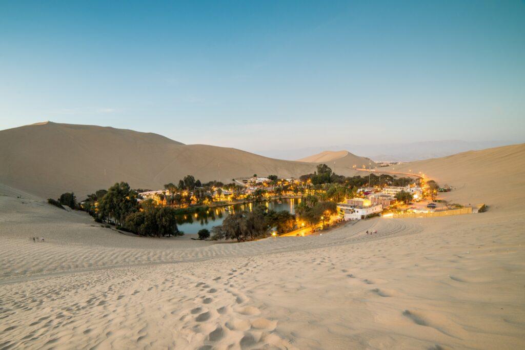 The Huacachina Oasis in Peru.