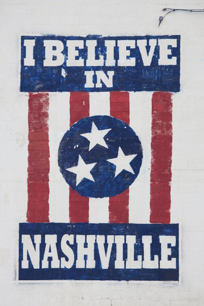 The I Believe In Nashville mural.