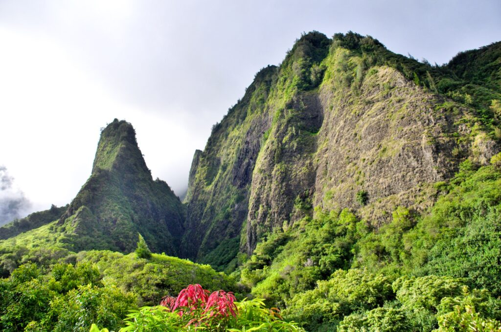 The 'Iao Needle in 'Iao Valley State Park.