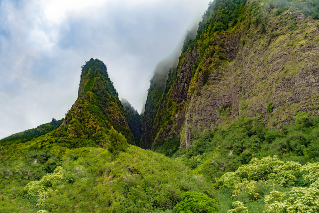 The Iao Valley State Monument on the isle of Maui.