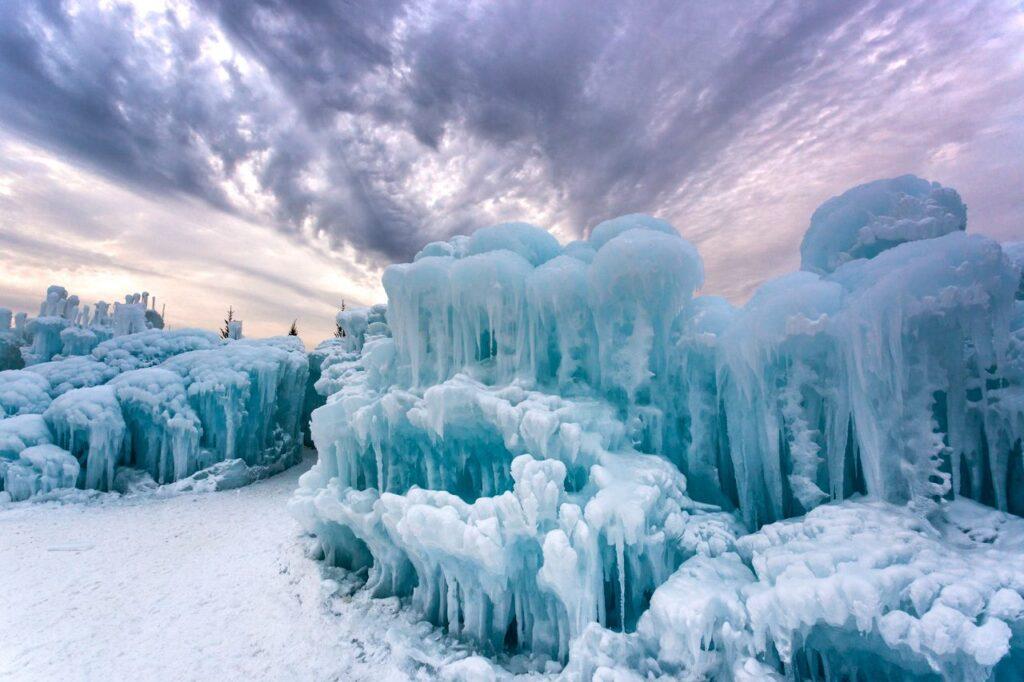 The Ice Castle in Herber, Utah.