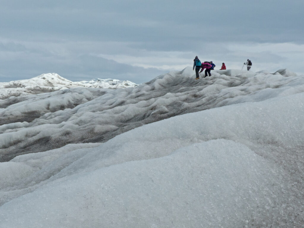 The icecap in Greenland.