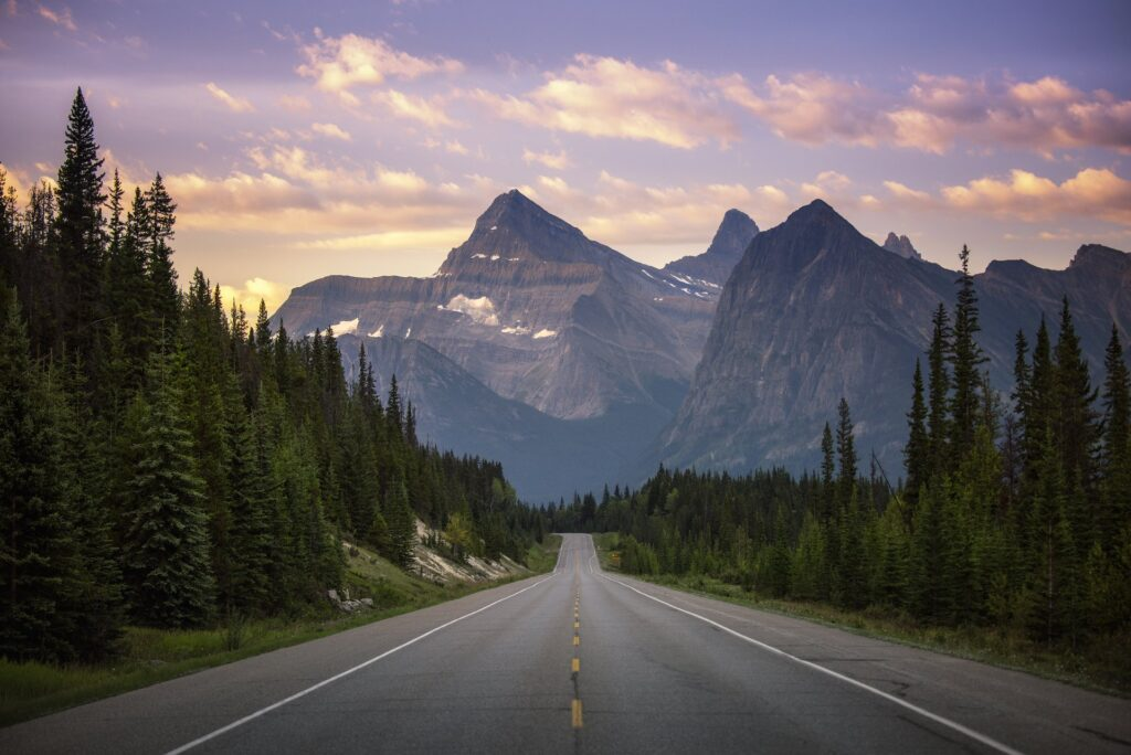The Icefields Parkway in Jasper.