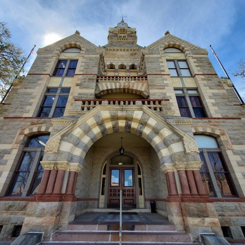 The iconic La Grange Courthouse.