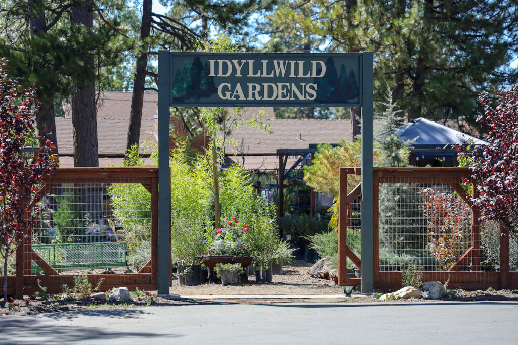 The Idyllwild Gardens in quaint Idyllwild, California.