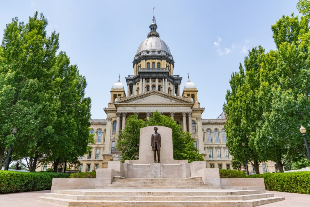 The Illinois State Capitol Building in Springfield.