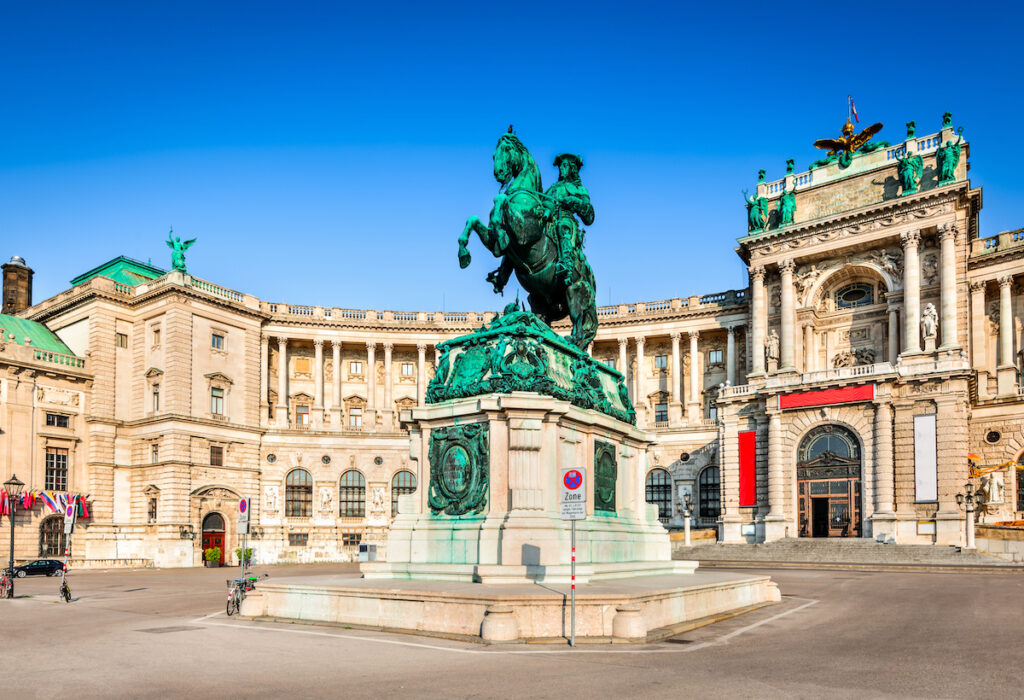 The Imperial Hofburg Palace in Vienna, Austria.