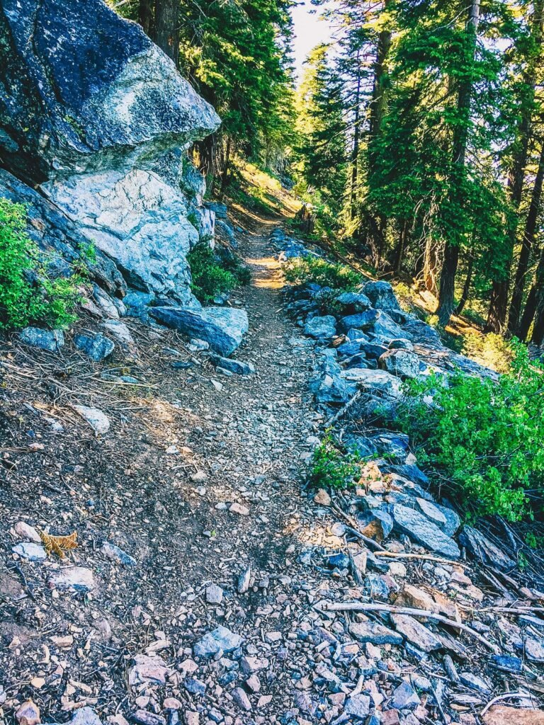 The Incline Flume Trail at Lake Tahoe.